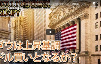 【FX】2020年1月19日の週刊相場解説&予測|ダウは変わらず上昇基調、ドル買いの動きとなるか?